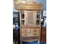 Antique Pine Hand Crafted Ornate Dresser