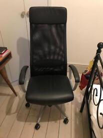 IKEA Markus desk chair (black leather)