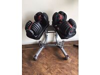 bowflex dumbbells with stand