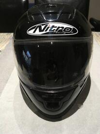 Black Nitro Motorbike Helmet N510-V, Size XS