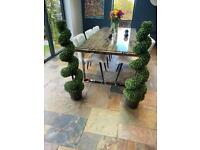 Artificial Boxwood spiral topiary 100/120cms high