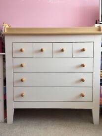 Baby changing chest of drawers, mamas and papas