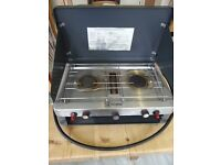 Hi Gear Gas Camping Cooker Double Burner and Grill (Gas regulator included)