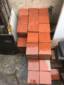 Reclaimed quarry tiles