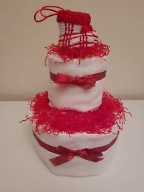 Christmas Baby Nappy Cake Gifts