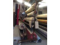 4 meter carpet isle display rack / display