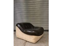 Vintage Leather and Suede Armchair