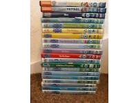 18 peppa dvds and 2 paw patrol