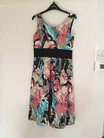 M&S Multicoloured Dress with Full Net Underskirt size 12