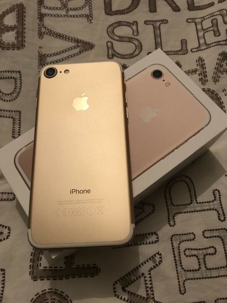 MINT CONDITION UNLOCKED IPHONE 7 GOLD 32GB
