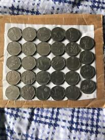 Complete set of Olympic 2012 50p coins