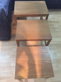 coffee table set of three nest tables