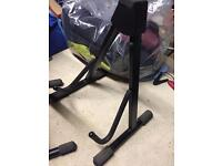Folding guitar stands (3 available).