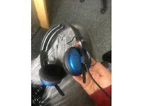 Sennheiser HD25 II Headphones (in custom blue colour)