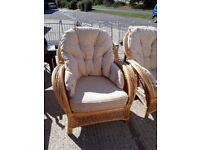 Armchairs - conservatory wicker cane
