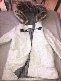 Zara coat grey