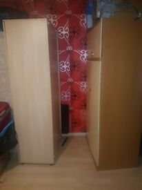 5 nice clean wardrobes must sell you pik up £15/each