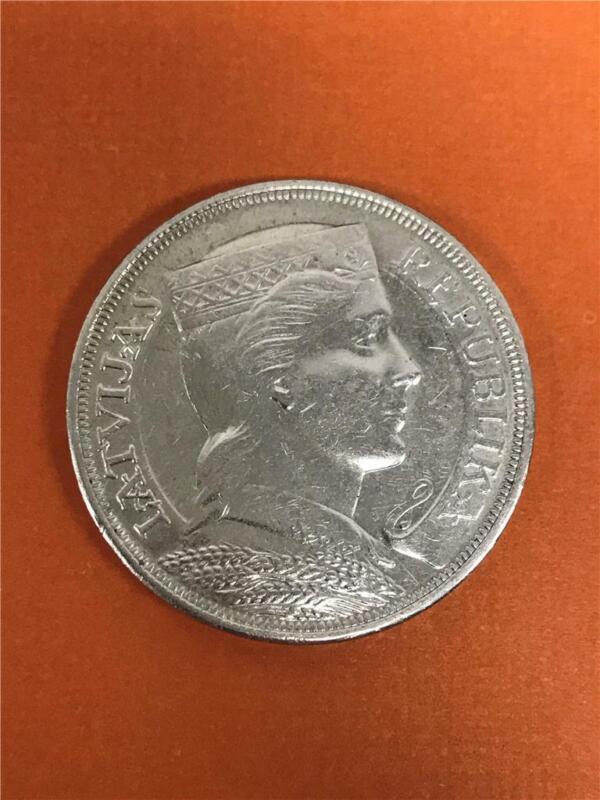 1929 Latvia 5 Lati