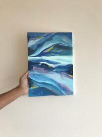 Abstract painting blue