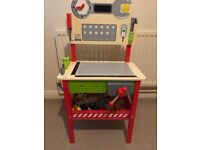 Kids Wooden Workbench & Tools in box