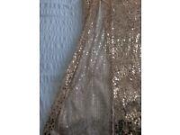 - Gold Sequin Evening Dress £15.00
