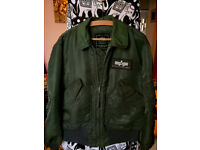 Nylon version of the U.S. Air Force current issue cold weather CWU-45/P flight jacket.