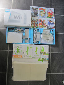 Nitendo Wii Console Wii Fit board and Games