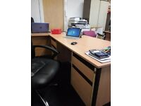 3 LARGE OFFICE DESKS WITH DRAWERS IN BRUCE GROVE