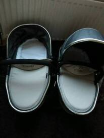 Icandy peach 3 truffle carry cots twins can post