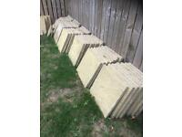 Sand Brown Concrete Paving Slabs - COLLECTION ONLY