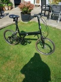Black Fold Up Bike