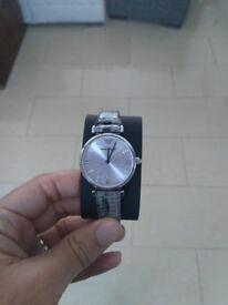 Women's Emporio Armani Leather Wristwatch Brand New