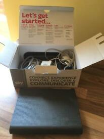 Sky broadband. Netgear. Wireless router.