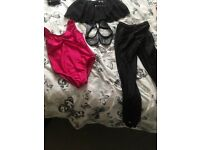 Ballet outfit set age 8-9 9-10 and tap shoes size 1 and a half.