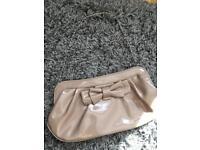 Nude patent clutch/handbag