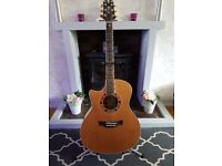 Crafter GAE 15 Left Handed Electro Acoustic Guitar With a Kustom Acoustic Amp