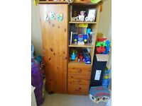 Pine Baby Wardrobe and Change Table