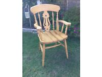 Solid Pine Heavy Carver Chair