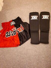 Junior MMA shorts/ leg protectors