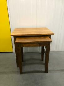 Next Solid Wood Nest Of Tables.