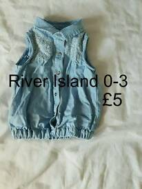 River Island denim shirt