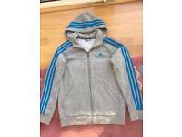 Boys Adidas hooded jacket age 11-12