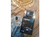 Go Pro Hero 5 Black (BRAND NEW!) With 64GB Memory Card £375 ONO