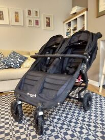 Baby Jogger City Mini GT Double Pushchair Stroller Pram Stroller, Black In Good Condition