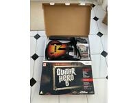 Guitar Hero 5 Guitar and Games Boxed manual, stickers Nintendo Wii Mint Condition - Tested + Working