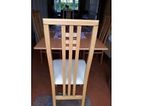 Extendable table and 4 chairs like new houzing jnits will sel for £100 fof auick sale
