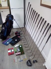 FULL SET DUNLOP TOUR TP13 GOLF CLUBS + SLAZENGER GOLF BAG WITH HOOD & STAND + FREE see description