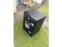 Black indesit washer
