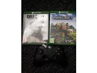 Xbox one 2 controlles 2 games