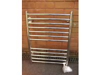 Stainless Steel towel radiator heater warmer bathroom polished 700mm x 500mm
